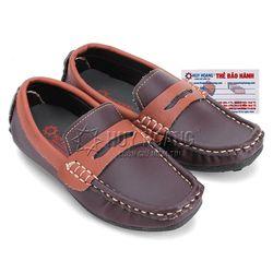 Giày kids mọi nam Huy Hoàng màu nâu đất phối nâu đỏ HR7806