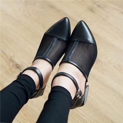 Giày sandal boot lưới mũi nhọn cao 5cm giá sỉ