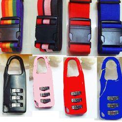 Bộ dây đai vali ổ khóa và thẻ hành lý C101 giá sỉ