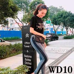 Jean Dài Wax Viền WD10 Size 32 - 36