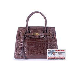 Túi xách nữ da cá sấu Huy Hoàng Vip màu nâu đất HR6241 giá sỉ