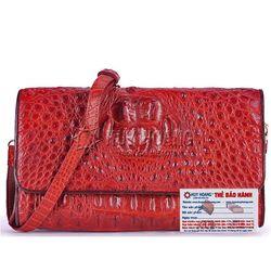Túi xách nữ da cá sấu Huy Hoàng đeo chéo màu nâu đỏ HR6229 giá sỉ