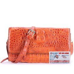 Túi xách nữ da cá sấu Huy Hoàng đeo chéo màu vàng HR6230 giá sỉ