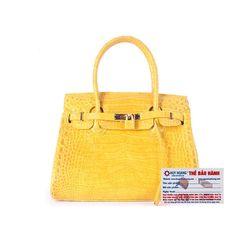 Túi xách nữ da cá sấu Huy Hoàng Vip màu vàng nghệ HR6242 giá sỉ