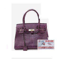 Túi xách nữ da cá sấu Huy Hoàng Vip màu tím HR6245 giá sỉ