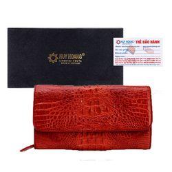 Túi xách nữ da cá sấu Huy Hoàng đeo chéo màu đỏ HR6232 giá sỉ