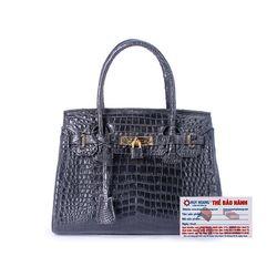 Túi xách nữ da cá sấu Huy Hoàng Vip màu đen HR6238 giá sỉ