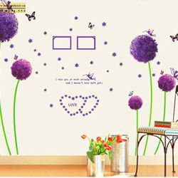 Decal dán tường hoa tím 60 x 90 cm