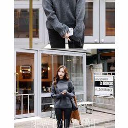 Áo len nữ tay dài Quảng Châu - Xám đậm
