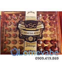 CHOCOLATE RƯỢU RÉMY MARTIN LIQUOR FILLED VSC CHOCOLATS 40 CHAI HỘP GỖ giá sỉ