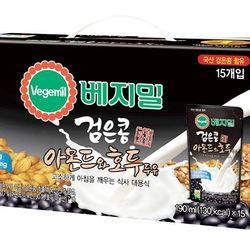 SỮA ĐẬU ĐEN ÓC CHÓ HẠNH NHÂN Hàn Quốc VEGEMIL 195ml x 20 bịch giá sỉ