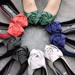 Giày búp bê kết hoa hồng ruy băng giá sỉ