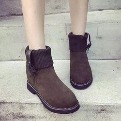 giày bốt nữ cổ len thời trang