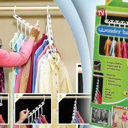 Bộ móc treo quần áo set 8 triples closet space 3335