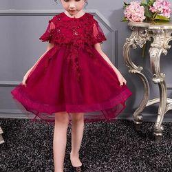 SDD006 Đầm công chúa vai ren giá sỉ