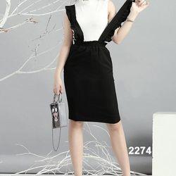 Bộ áo thun váy hai dây dạo phố 2274