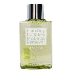 Tẩy Trang Mắt Môi The FaceShop Herb Day Lip Eye Remover Sensitive giá sỉ