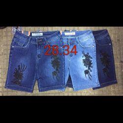Quần lửng jean thêu 28-34 HQ2411 135k giá sỉ
