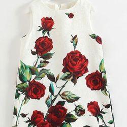 Đầm gấm sang trọng cho bé giá sỉ