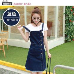Đầm Yếm Jean Phối Nút Thời Trang TP1490 giá sỉ