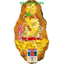 Lịch Gỗ Kim Ngư Phú Quý giá sỉ
