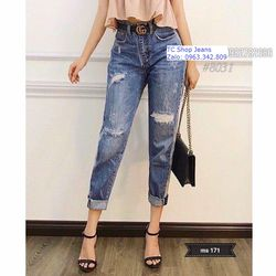 Quân baggy jeans Nữ MS 171
