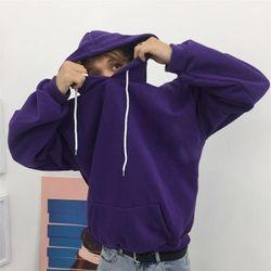 hoodie basic tím giá sỉ