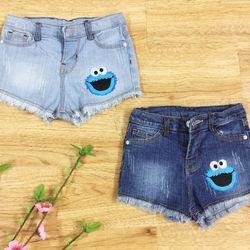 Quần short jeans mặt cười bé gái s1-8 giá sỉ