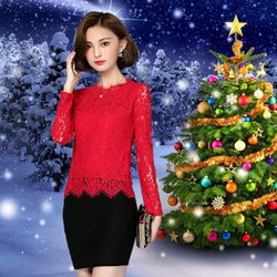 Áo Ren Mi Đỏ Tay Dài Noel giá sỉ