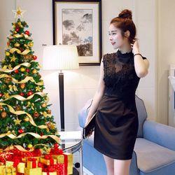 Đầm ren đen dự tiệc Giáng Sinh giá sỉ