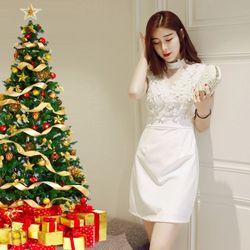 Đầm ren trắng dự tiệc Giáng Sinh giá sỉ