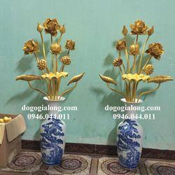 Bình hoa sen bằng gỗ giá sỉ