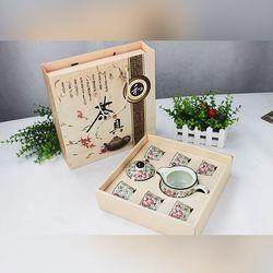 Bộ tách trà sứ hoa văn Nhật Bản - ms 18035