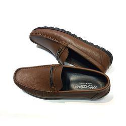 Giày mọi da hạt nâu Gm21 giá sỉ