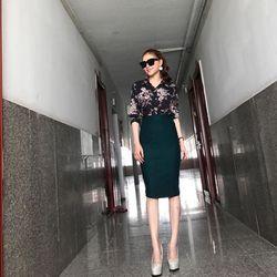 chân váy bút chì nữ vải umi dài 63cm giá sỉ