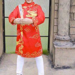 Xưởng chuyên sỉ áo dài cực đẹp chi bé 10-50 kg mặc giá sỉ