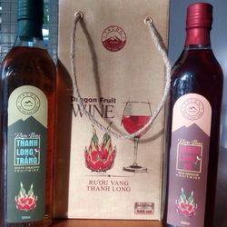rượu vang thanh long và thanh long sấy dẻo Bình Thuận giá sỉ