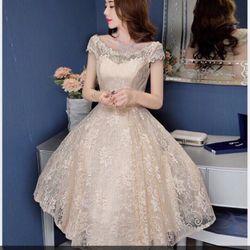Đầm ren xòe dáng dài dạ hội giá sỉ