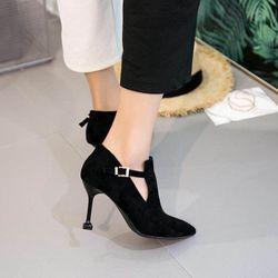 Boots Nỉ Gót Nhọn Hàng Quãbg Châu