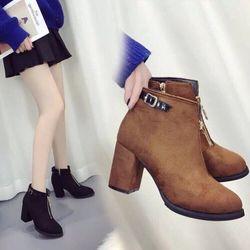Boots Nỉ Khóa Kéo Hàng Quãng Châu