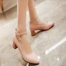 Giày búp bê quai hậu gót vuông 5p