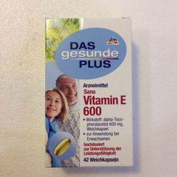 Vitamin E 600 Đức – DAS gesunde PLUS 42 viên nang