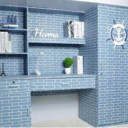 decal giấy dán tường gạch xanh giá sỉ