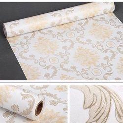 decal giấy dán tường châu âu kem vàng giá sỉ