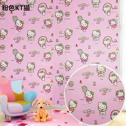 decal giấy dán tường kitty hồng đậm giá sỉ
