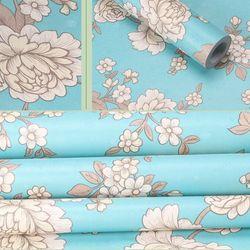 decal giấy dán tường hoa cúc xanh ngọc giá sỉ