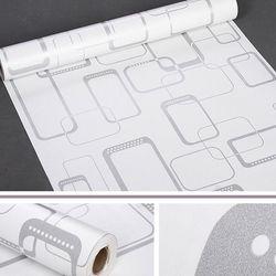decal giấy dán tường ô vuông trắng