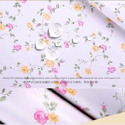 decal giấy dán tường hồng bi nền trắng