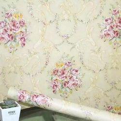 decal giấy dán tường hoa chùm cổ điển kem