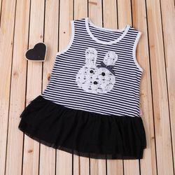 L5026 Đầm bộ thỏ bé gái